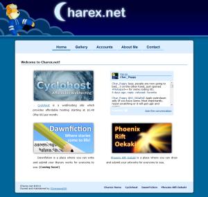 Charex.net v1.0 Layout